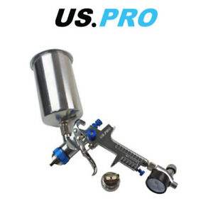 Us Pro Hvlp Spray Gun With Regulator 2 Nozzels 1 4 2 0mm 1000ml Cup 8776