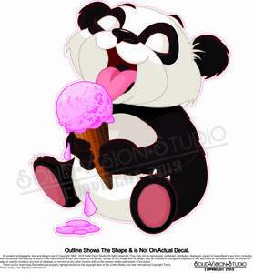 Ice Cream Panda Bear Concession Trailer Food Cart Truck Menu Sign Sticker Decal