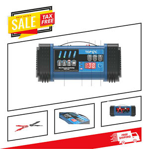 Car Battery Charger Fully Automated Multiple Use 12 24 Volt Battery System