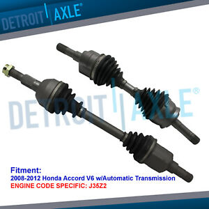 Front Cv Axle Drive Shafts For 2008 2009 2010 2012 Honda Accord V6 W Auto Trans