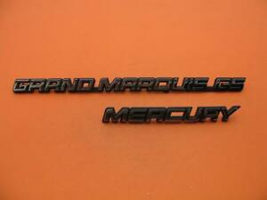 1995 1997 Mercury Grand Marquis Gs Rear Emblem Logo Badge Sign 95 96 97 Set 2