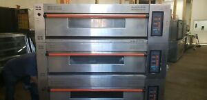 Three Deck Electric Ovens With Steamer Tested Excellent Working Condition cb12