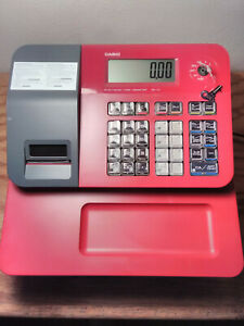 Casio Se g1 Electronic Cash Register Red W 50 Rolls Of Thermal Paper