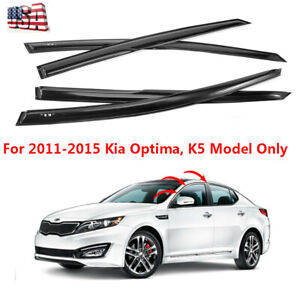Smoked Door Visor Window Wind Vent Deflector Fits For Kia Optima K5 2011 2015