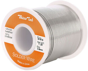 Whizzotech Solder Wire 60 40 Tin lead Sn60pb40 With Flux Rosin Core For 0 032