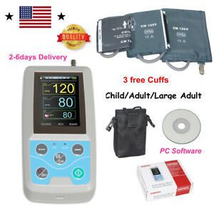 24h Nibp Holter Ambulatory Blood Pressure Monitor Abpm50 Sw free 3 Cuffs us Ship