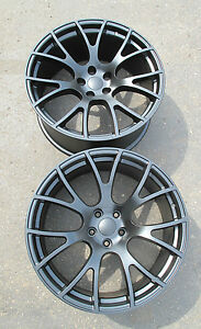22 X 11 Factory Style Dodge Charger Srt Hellcat Satin Black Two Wheels Rims