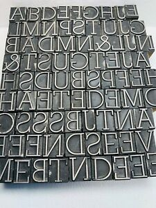 82 Various Letters Letterpress Wood Print Blocks 1 2 Inch Incomplete Set