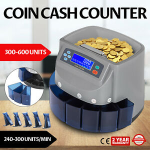 Automatic Electronic Coin Counter Sorter Currency Money Counting Machine Usa