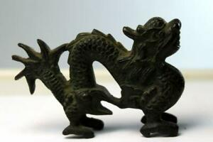 Antique Chinese Solid Bronze Dragon