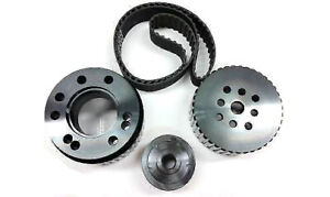 Sbc Small Block Chevy Gilmer Belt Drive Pulley Set Black Lwp 283 327 350 400