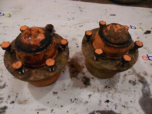 1974 Case 1070 Farm Tractor Front Hubs