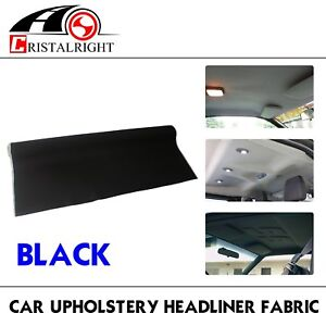 100 x60 Black Auto Headliner Upholstery Fabric With Foam Backing Protection