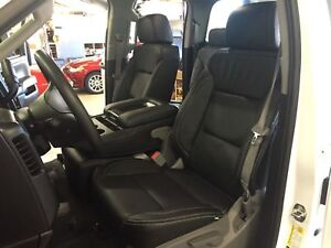 2014 2017 18 Chevrolet Silverado Double Cab Katzkin Black Leather Seats Wt Bench