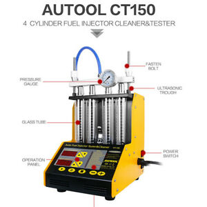 Autool Ultrasonic Gasoline Fuel Injector Injection Tester Cleaner Ct150 New
