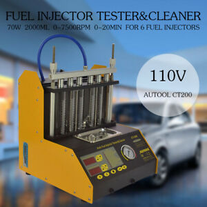 110v Autool Ultrasonic Fuel Injector Cleaner Tester For Petrol Car Motor Ct200