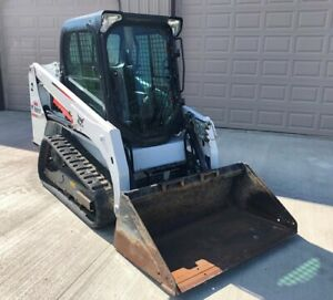 2015 Bobcat T450 Skid Steer Fully Loaded Tracks Enclosed Cab low Hours