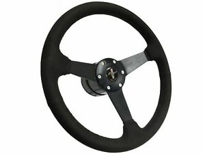 1968 1978 Ford Mustang S6 Suede Steering Wheel Solid Kit Black Pony Emblem