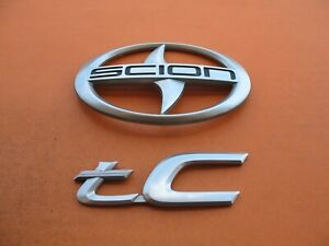 11 12 13 14 15 16 Scion Tc Rear Trunk Lid Center Emblem Logo Badge Sign Set 1