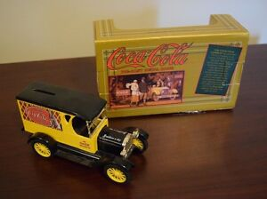 Coca-Cola ERTL Die-Cast Metal Bank-New in Box-Chevy Truck-Yellow-Take a L@@K