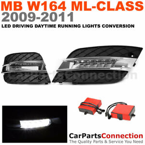 Fog Led Daytime Running Light Conversion Drl Left Right Mb Ml class 09 11 W164