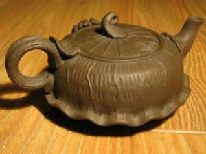 Excellent 12 7cm Chinese Yixing Zisha Famous Scholar Carved Teapot