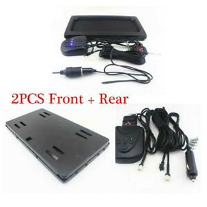 Us Hide away Shutter Cover Up Electric Stealth License Plate Frame Holder remote