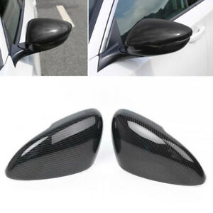 Abs Carbon Fiber Style Rearview Side Mirror Trim Cover Fit Honda Accord 2018