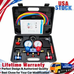 Ac Diagnostic Manifold Gauge Set For Freon Charging And Vacuum R134a R410a R22