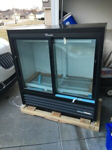 New True Gdm 41sl 48 hc ld 47 Black Led Glass Soda Slim Refrigerator Cooler