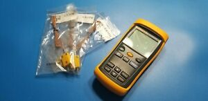 Fluke 53 Ii Thermometer Good Working Condition 3 Thermocouple