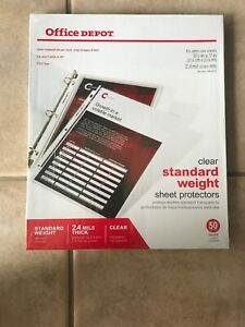 Office Depot Standard Weight Clear Sheet Protectors 8 5 X 11 Box Of 500