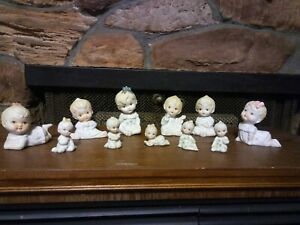 Antique Bisque Set Of 11 Piano Baby Figurines Unknown Brand Rare