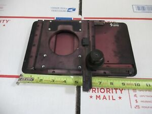 Semprex Leitz Laborlux Stage Table Assembly Microscope Part As Pictured