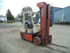 1995 Nissan Kcph02a25rv 5 000 5000 Cushion Tired Forklift 4 Stage Mast Ss