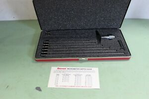 New Starrett 443 Depth Gauge 0 9 8 Rods With Case And Box