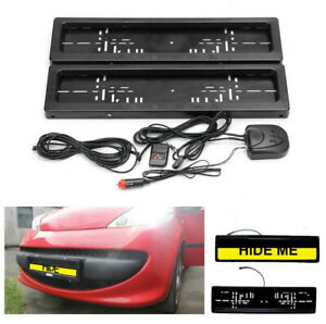 Euro Stealth Car Number Device License Plate Roller Hide Cover Shutter Protect