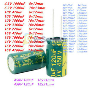 6 3v 450v High Frequency 10 10000uf Low Impedance Radial Electrolytic Capacitor