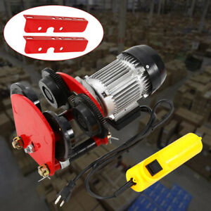 Electric Wire Rope Hoist W Trolley l beam Links 2200lb 500w 1400r m Hot Sales