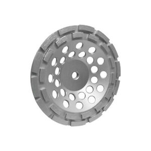 7 Double Row Diamond Grinding Cup Wheel 5 8 11 Wet dry For Concrete Masonry
