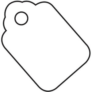 Pre strung White Merchandise Inventory Labels Jewelry Tags Usa Case Of 1000