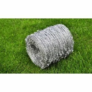 Barbed Wire 1640 2 wired 4 pointed Heavily Galvanized Steel Protect Plants