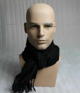 New Design Realistic Male Mannequin Head Model Display For Hat And Sunglasses