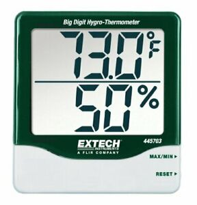 Extech 445703 Big Digit Hygro thermometer With hygro thermometer with Min max