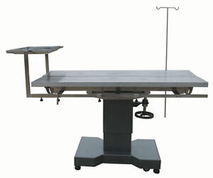 Veterinary Surgical Operating Table Dh27 Hydraulic Lift Stainless Tilt V top New