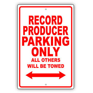 Record Producer Parking Only Gift Decor Novelty Garage Aluminum Metal Sign