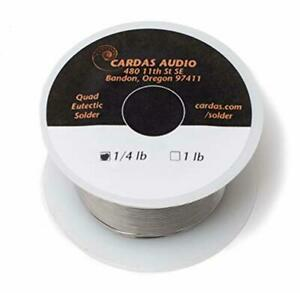 Cardas Soldering Wire Quad Eutectic Silver Solder With Rosin Flux 14 Lbs 113g