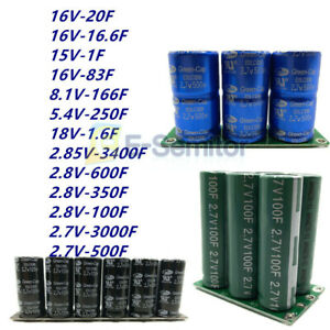 2 7 16v 1 3400f Farad Capacitor Super Capacitor With Protection Board Module