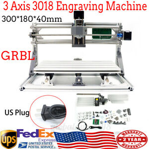 Mini 3 Axis 3018 Cnc Router Diy Engraver Engraving Milling Machine grbl Control