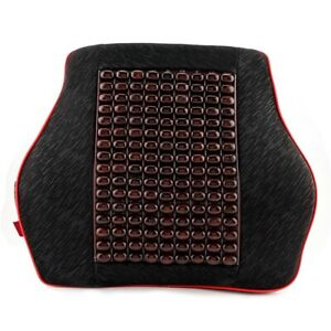 Electrical Car Seat Back Waist Support Cushion Pad Memory Foam Backrest Massager